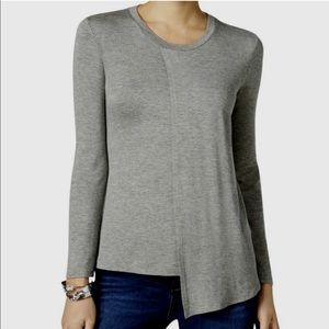 Kut From The Kloth Grey Asymmetrical Top